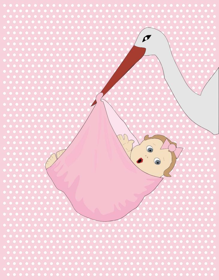 Přání k narození dítěte, obrázková přáníčka - dítě přáníčko